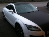 Audi TT Ice White Vehicle Wrap